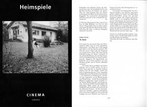 Heimspiele Cinema 00 sw